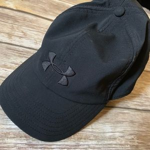 UNDER ARMOUR BLACK WOMENS BASEBALL CAP